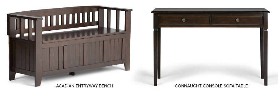 Acadian Bench and Connaught Console