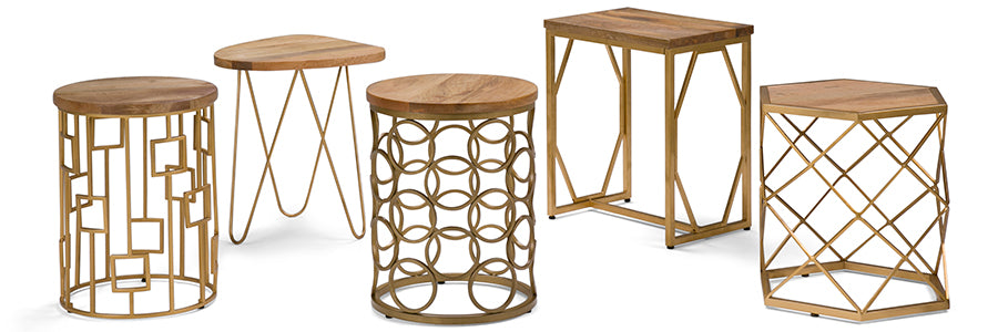 Simpli Home - Metal Accent Tables