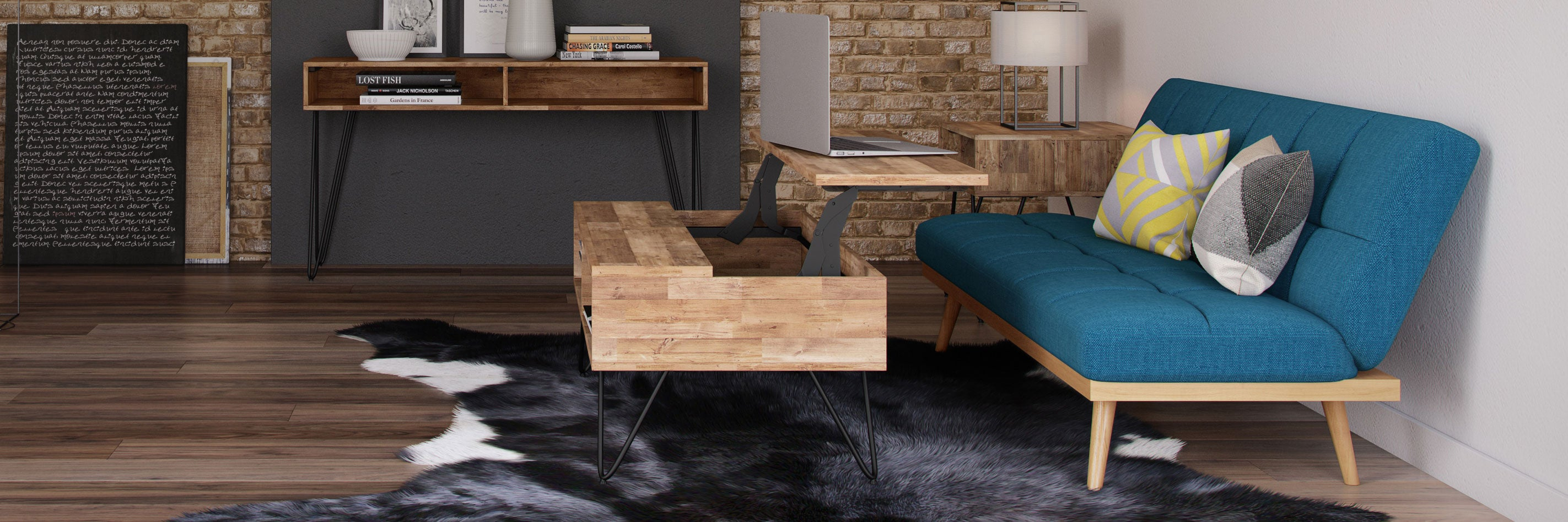 Hunter Lift-Up Coffee Table and Spencer Sofa Bed