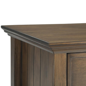 Rustic Natural Aged Brown | Acadian Bedside Table