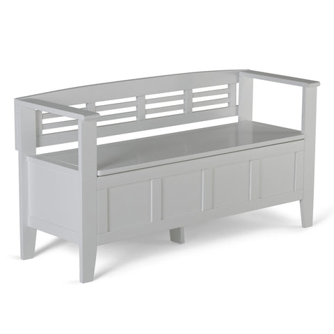 White | Adams Entryway Bench