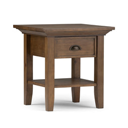 Rustic Natural Aged Brown | Redmond 19 inch End Side Table