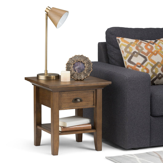 Load image into Gallery viewer, Rustic Natural Aged Brown | Redmond 19 inch End Side Table