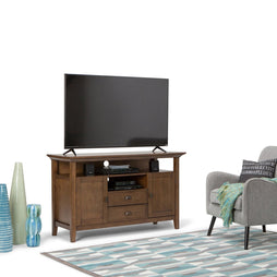 Rustic Natural Aged Brown | Redmond 54 inch Tall TV Media Stand