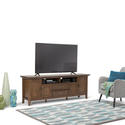 Rustic Natural Aged Brown | Redmond 72 inch TV Media Stand