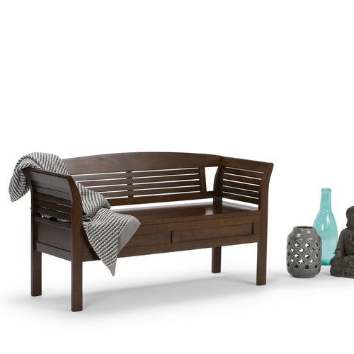 Medium Rustic Brown | Arlington Entryway Bench