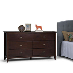 Russet Brown | Artisan 60 x 18 x 33 inch Dresser and Media Cabinet