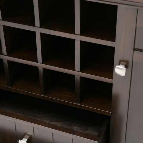 Tobacco Brown | Bedford Sideboard Buffet & Winerack