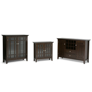 Dark Tobacco Brown | Bedford Sideboard Buffet & Winerack