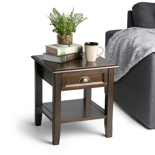 Mahogany Brown | Burlington End Side Table