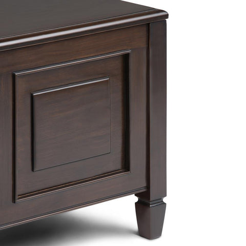 Connaught 44 x 24 x 18 inch Coffee Table with Trays in Dark Chestnut Brown