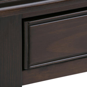 Connaught 46 x 16.5 x 30 inch Console Sofa Table in Dark Chestnut Brown