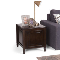 Dark Chestnut Brown | Connaught End Side Table with Tray Table