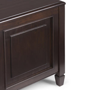 Connaught 21 x 22.75 x 22 inch End Side Table with Tray in Dark Chestnut Brown