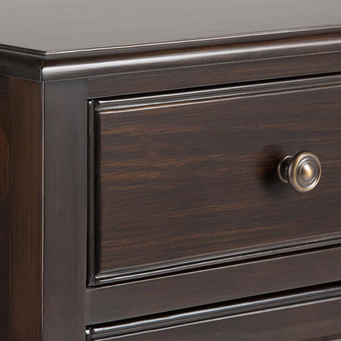 ... Connaught 40 x 15 x 36 inch Entryway Storage Cabinet in Dark Chestnut Brown ... & Entryway Storage Cabinets u2013 Simpli Home