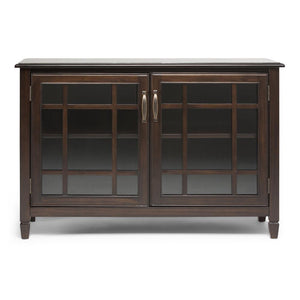 Connaught 46 x 17 x 31 inch Low Storage Cabinet in Dark Chestnut Brown