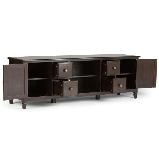 Load image into Gallery viewer, Connaught 72 x 18 x 24 inch Wide TV Stand in Dark Chestnut Brown