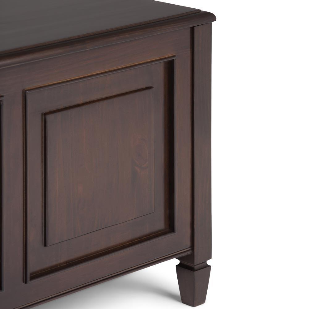 Admirable Connaught Storage Bench Trunk Simpli Home Squirreltailoven Fun Painted Chair Ideas Images Squirreltailovenorg