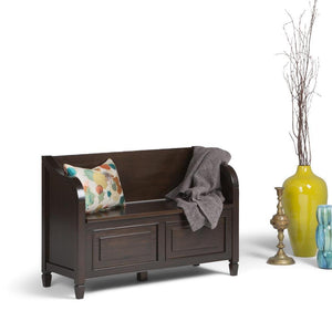 Connaught 42 x 18 x 29.5 inch Entryway Storage Bench in Dark Chestnut Brown