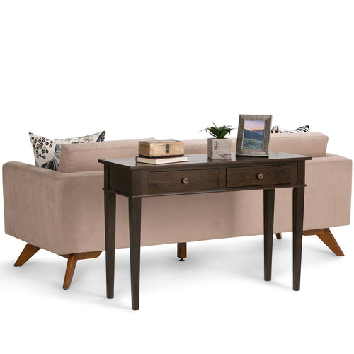 Tobacco Brown | Carlton Console Sofa Table