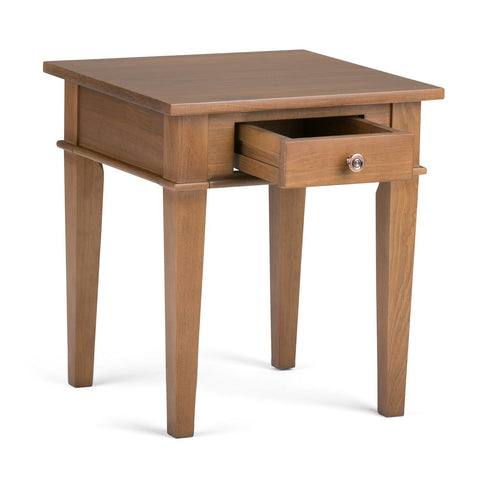 Medium Saddle Brown | Carlton 18 inch End Side Table