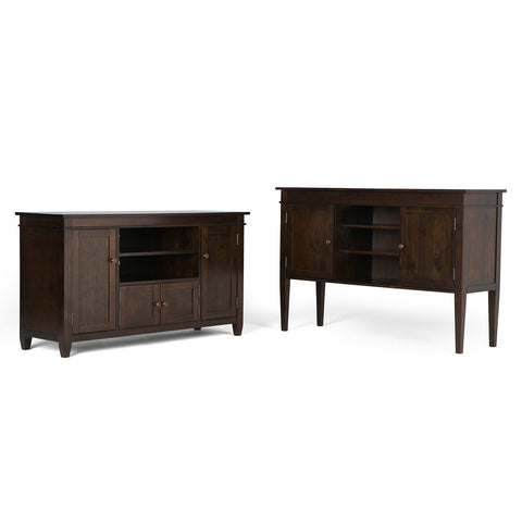 Tobacco Brown | Carlton Tall TV Stand