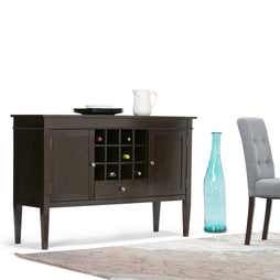 Tobacco Brown | Carlton Sideboard Buffet & Wine Rack