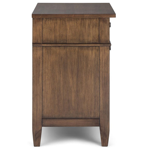 Rustic Natural Aged Brown | Carlton Bedside Table