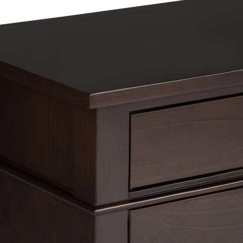 Carlton 24 x 16 x 26 inch Bedside Table in Tobacco Brown