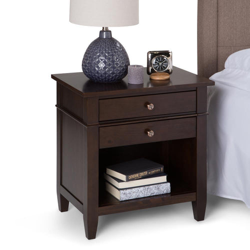 Dark Tobacco Brown | Carlton Bedside Table