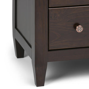 Carlton 36 x 16.55 x 36 inch Chest of Drawers in Tobacco Brown