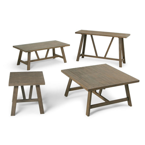 ... Driftwood Finish | Dylan 36 Inch Square Coffee Table ...