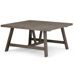 Driftwood Finish | Dylan 36 inch Square Coffee Table