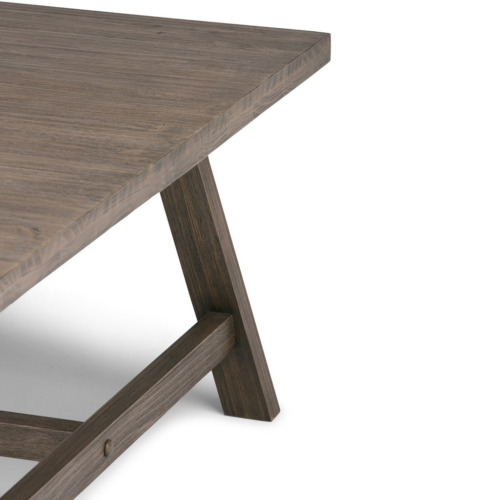 40 Square Driftwood Coffee Table: Dylan 36 Inch Square Coffee Table In Driftwood Finish