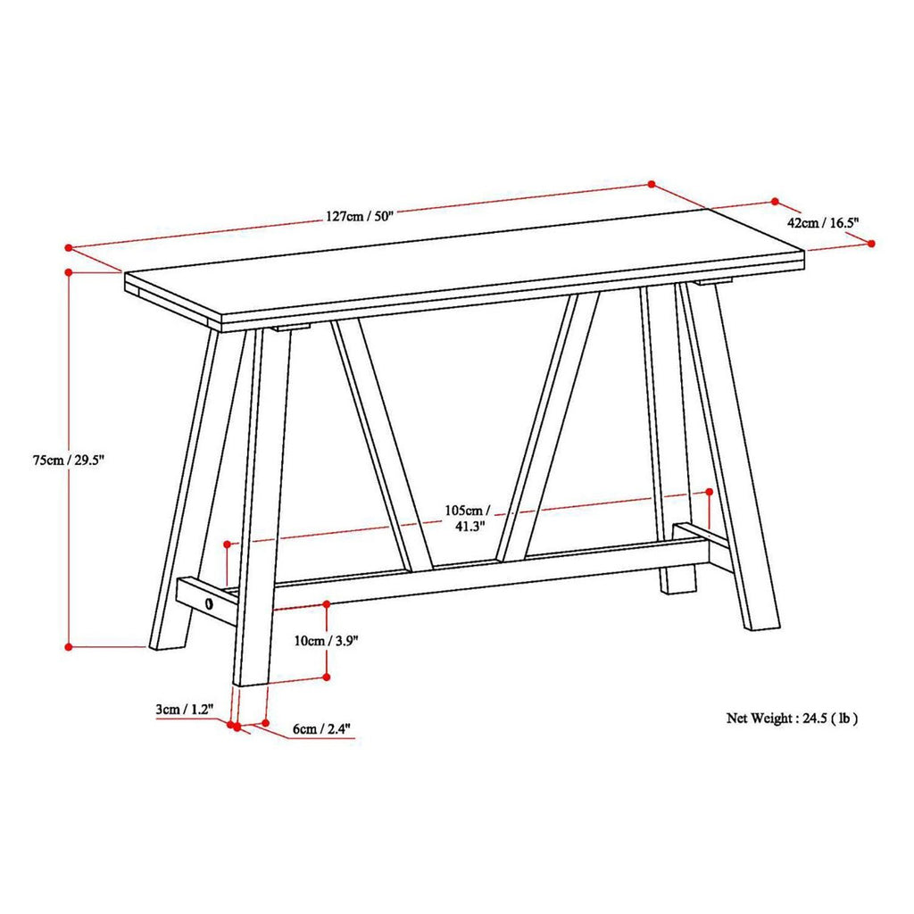Dylan Console Sofa Table Simpli Home