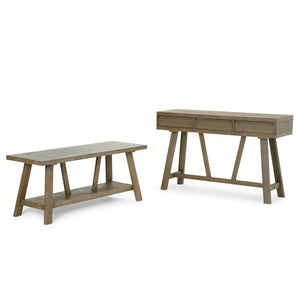 Driftwood Finish | Dylan 48 inch Entryway Bench