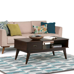 Medium Auburn Brown | Draper Mid Century Coffee Table