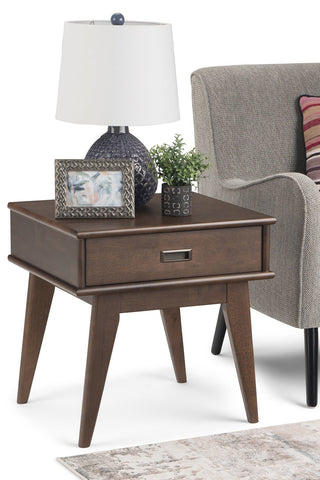 Walnut Brown | Draper Mid Century End Table