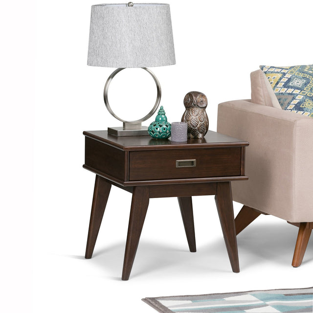 Load image into Gallery viewer, Medium Auburn Brown | Draper Mid Century End Table