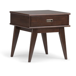 Medium Auburn Brown | Draper Mid Century End Table
