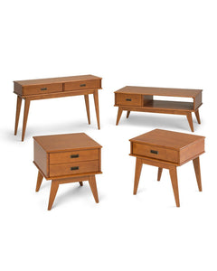 Teak Brown | Draper Mid Century Console Table