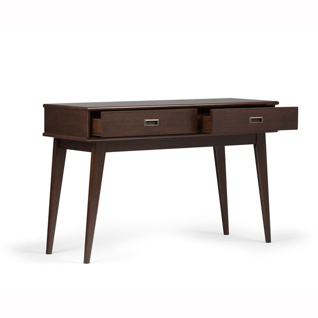 Load image into Gallery viewer, Medium Auburn Brown | Draper Mid Century Console Table