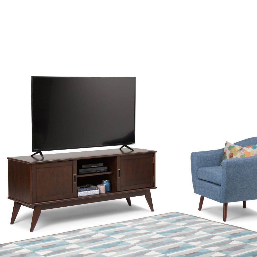 Draper Mid Century 60 x 18 x 26 inch Low TV Media Stand