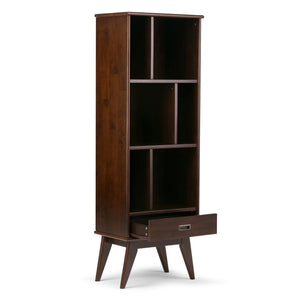 Draper Mid Century Bookcase with Storage