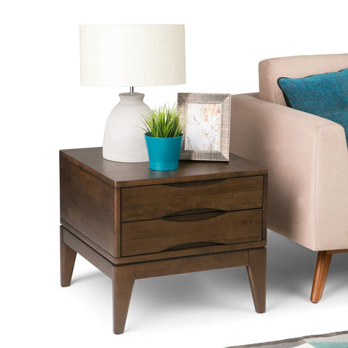 Walnut Brown | Harper 22 inch End Side Table