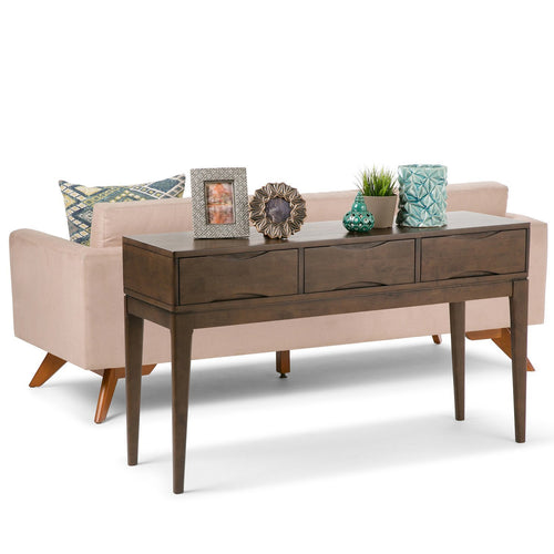 Walnut Brown | Harper 54 inch Console Sofa Table