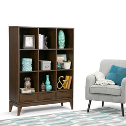 Walnut Brown | Harper 58 x 42 inch Cube Storage with Drawers