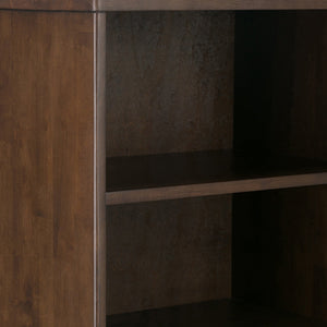 Walnut Brown | Harper 60 x 24 inch Bookcase with Storage