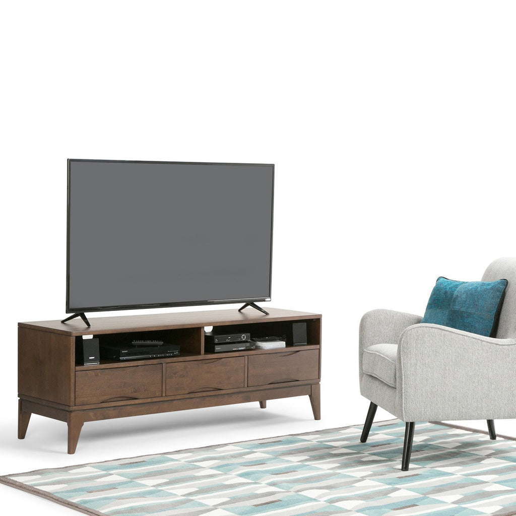 Harper Solid Hardwood Wide Tv Media Stand For Tvs Up To 65 Inches Simpli Home