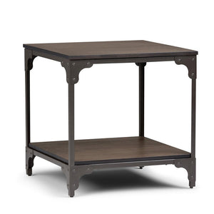 Nantucket 21 inch Square End Side Table in Walnut Brown